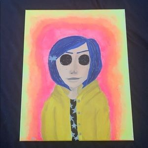 COPY - Coraline painting ( commissions are open )